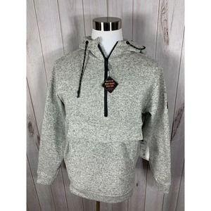 Billabong Men's Furnace Fleece Boundary Hooded Pullover KT4 Gray Medium NWT